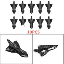 10PCS Shark Fin Carbon fiber Diffuser Vortex Generator for Truck Windscreen Roof