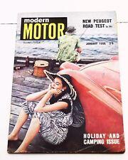 Modern Motor Magazine January 1956 Vintage Car Cars Book 50s Caravan Advertising