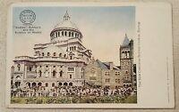 Vintage antique Victorian Trade Card postcard Boston Rubbers Co Christian Boston