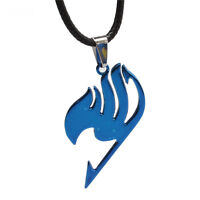New Hot Anime Fairy Tail Guild logo Necklace Blue Alloy Pendant Cosplay Jewelry