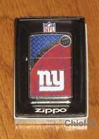 Zippo NFL New York Giants Lighter, Street Chrome #29371