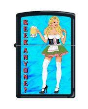 Zippo 218 Beer Anyone Woman Waitress Full Size Lighter