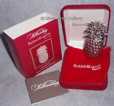 2007 Reed Barton Sterling FIRST Annual Williamsburg Pineapple Christmas Ornament