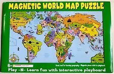 WORLD MAGNETIC PUZZLE MAP, LEARN COUNTRIES AND CAPS
