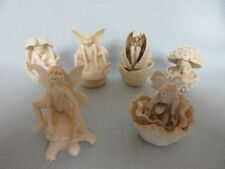6 x FIGURINE TOOTH BOXES FAIRIES & ELVES ALL APPROX 6 CMS TALL LADYBIRD/SNAIL IN