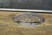 """Chrome 7"""" stone guard rock Wire mesh headlight cover motorcycle universal"""