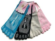 2 pairs Yoga Socks with Non-Slip Grip Pilates Barre Ballet Dance Gym Sports