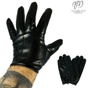 Men's Vegan Leather Gloves Thight Lined Gloves Police Tactical Touch Size L