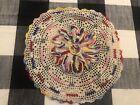 Spectacular+Vintage+Handmade+Crochet+Ruffled+Rainbow+Doily+Colorful%EF%BF%BC%EF%BF%BC+11%E2%80%9D