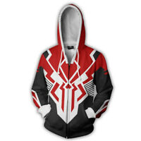 Marvel Spider-Man 2099 Hoodie Sweatshirt Cosplay Zip Up Jacket Coat Costume