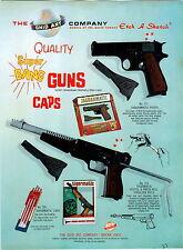 1966 ADVERT Ohio Art Toys Jaguarmatic Cap Gun Tigermatic Pistol Rifle Kusan