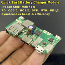 QC3.0 Type-C Lithium Li-ion Battery Quick Charging Charger Module DIY power Bank