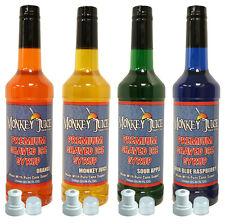 4 Bottles of Raspadilla Syrup - Made with PURE CANE SUGAR