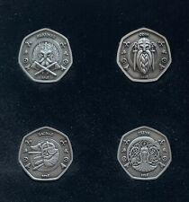 More details for iom viking 50p collectors group coin's #1, #2, #3 & #4 !, isle of man
