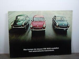 Brochure Prospekt Folder - VW Volkswagen 1600 Saloon Coupe Variant *47147