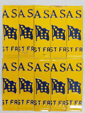 """Lot of 10 Alaska """"The Last Frontier"""" Flag License Plate Spacers"""