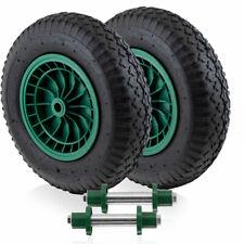 Bituxx 2x Ersatzrad Luftrad für Schubkarre Ersatzreifen Schubkarrenrad mit Achse
