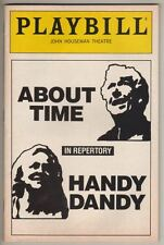 """James Whitmore & Audra Lindley  Playbill  1990  Off-Broadway  """"About Time"""""""