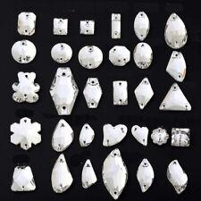 Кристалл полярного сияния нашивные стразы пришивные Crystal Glass слеза овал бусины маркиза