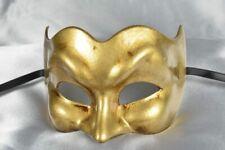 Gold Joker Plain - Masquerade Masks for Men for Venetian Ball