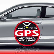 2 ADESIVI ANTIFURTO stickers - GPS - VETRO INTERNO auto FORD #04