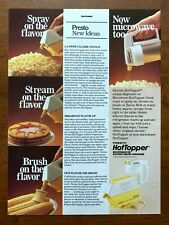 1987 Presto Hot Topper Vintage Print Ad/Poster Kitchenware 80s Pop Art Decor