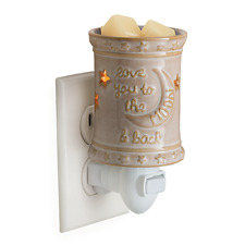 LOVE YOU TO THE MOON AND BACK Wax Tart Electric Wall Outlet Plug In Warmer.