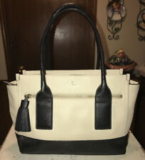 Kate Spade New York XL Shoulder Tote Black & Ecru w/Tassel WKRU2649