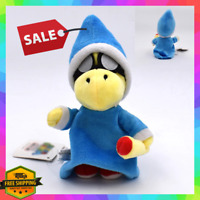 "NEW Super Mario Magikoopa Kamek Plush Toy 7"" Stuffed Animal Soft Magic Figure"