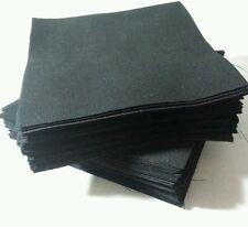 "Lot of 200pcs quilt blocks, cotton charm pack, 5"" squares, BLACK solid fabric"