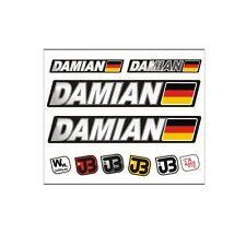 DAMIAN Auto Fahrrad Motorrad Kart Helm Fahrername Aufkleber Sticker Flagge