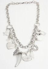 Modeschmuck-Halsketten & -Anhänger aus Metall-Legierung mit Herz-Schliffform