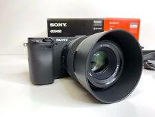 Sony Alpha A6400 24.2MP Digital Camera + FE50mm f1.8 lens Shutter Count 43