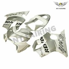 White Silver Injection Fairing Plastic for HONDA 2001 2002 2003 CBR600 F4i aA2