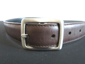 """Classic Brow Faux Leather Silver Buckle Boys Kids Belt Size 21""""-24"""""""