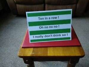 Celtic ten in a row, oh no no no, Spoof Joke Card,Ideal for Rangers Fans Wind Up