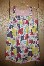 Mini Boden NWT White Pink Yellow Multi-Color Floral Jumper Dress 11 12