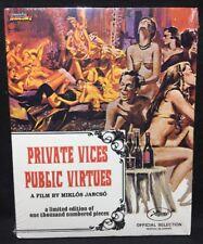 Private Vices, Public Virtues Blu-ray 1976 RARE NEW w/ Slipcover Mondo Macabro