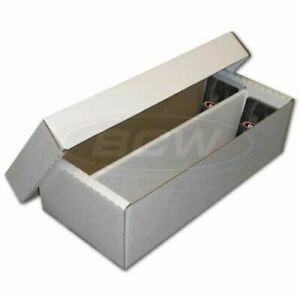 BCW Shoe Storage Box (1,600 CT) Holds over 300 3x4 toploads Sports/Trading Cards