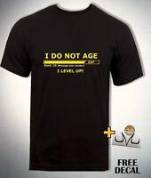 Funny CUSTOM Gamer T-shirt Personalised Age Gaming Birthday Tee Adult KIDS Gift