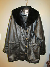 ML SPORT WOMENS FAUX LEATHER JACKET COAT SIZE MEDIUM EUC
