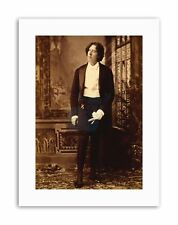 IRISH CELEBRITY POET PLAYWRIGHT OSCAR WILDE Poster Vintage Portrait Canvas art