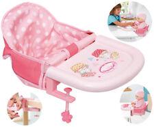 Zapf Creation Baby Annabell Tischsitz (Rosa) Puppensitz Sitz Puppenhochstuhl NEU