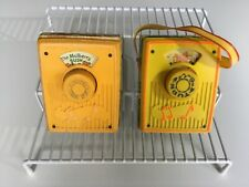 Vtg 70s Toy 2 Fisher Price Pocket Radio Mulberry Raindrops Not Working 1970 1972