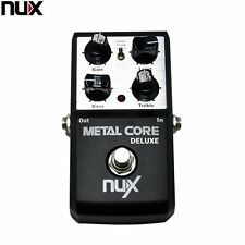 NUX Metal Core Deluxe Distortion Effect Pedal 2-Band EQ Tone True Bypass