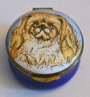 Crummles & Co. English Enamels Shih Tzu Trinket Box