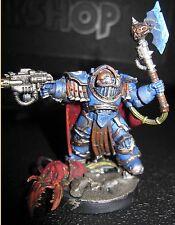 Warhammer 40000 Space Marines Praetor in Cataphractii armor painted