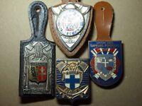 Lot de 4 insignes SAPEURS POMPIERS - LORRAINE MARSEILLE CALAIS MARNE