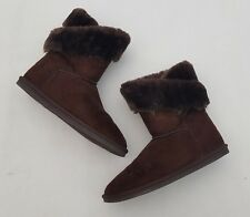 Apres Women's Boots Size 9 Brown Suede Leather Fur Lined Warm