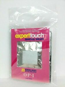Opi Expert Touch Remover Wraps 20 Pcs